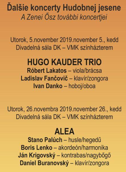 ďalšie koncerty