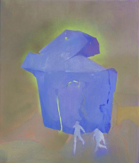 Žiarenie II., 65x55,5 cm, akryl na plátne, 2020 (1)