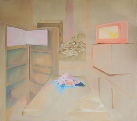 Žiarenie,140x160 cm, akryl na plátne, 2020 (2)