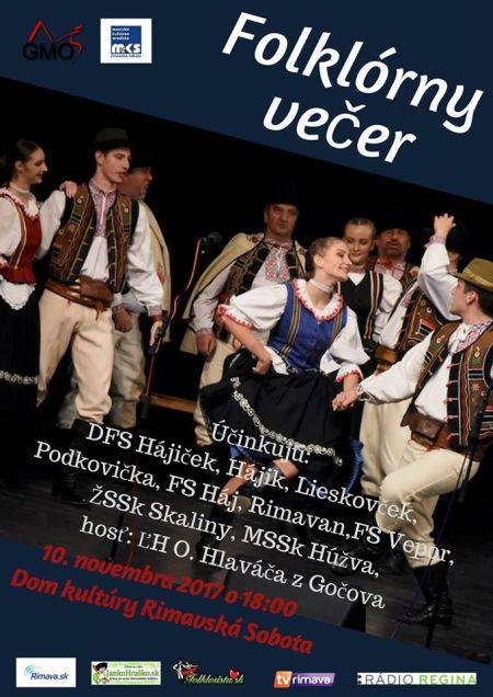 Folklórny večer malý plagát